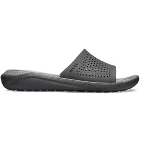 Crocs LiteRide Slides, black/slate grey